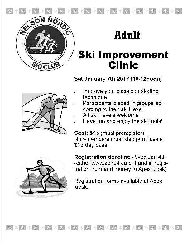 Ski Improvement Clinic #2 @ Apex Trailhead