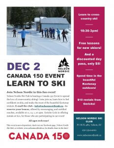 Canada 150 Event: Learn to Ski @ Apex Trailhead