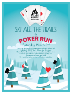 Poker Run - Ski all of our trails!